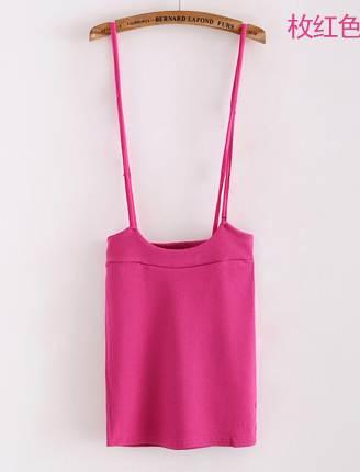 (SALE) เอี๊ยมแฟชั่น ผ้ายืด สีชมพู