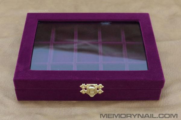 กล่อง,กล่องใส่อุปกรณ์ทำเล็บ,กล่องใส่อุปกรณ์ตกแต่งเล็บ,กล่อง25กระปุก,กล่องกำมะหยี่