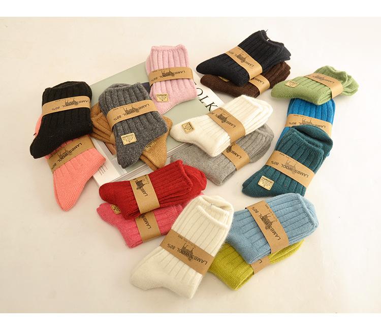 SC112-45 -ถุงเท้ากันหนาว Lambs Wool ทอเนื้อแน่นใส่อุ่น size 24-26 cm (เด็กโต-ผู้ใหญ่)