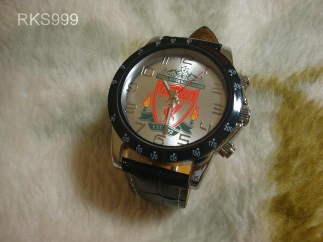 นาฬิกาข้อมือลิเวอร์พูล สายหนัง หน้าปัดขาว (ชาย)