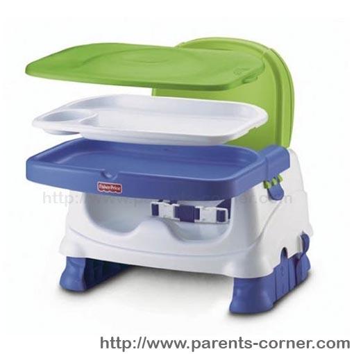 เก้าอี้ทานข้าว Fisher-Price Healthy Care Deluxe Booster Seat -Bule/Green