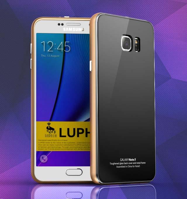 เฟรมอลูมิเนียมหลังกระจก Samsung Galaxy Note 5 จาก LUPHIE [Pre-order]