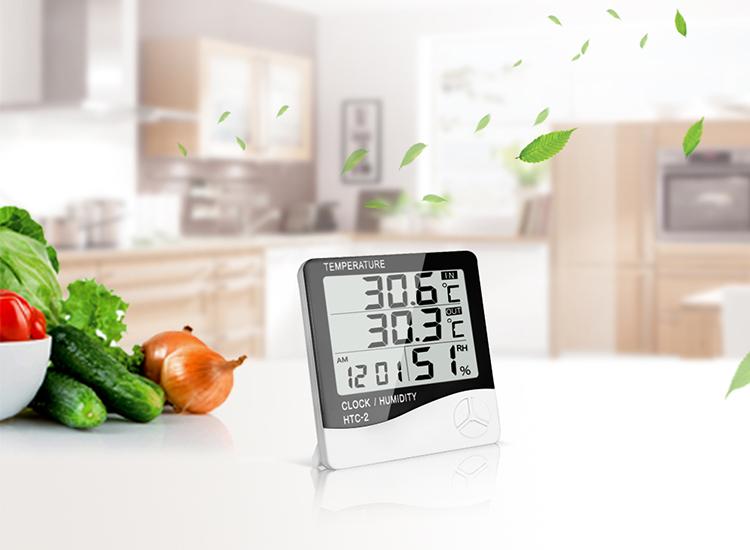 เครื่องวัดอุณหภูมิและความชื้นสัมพัทธ์ ติดผนัง