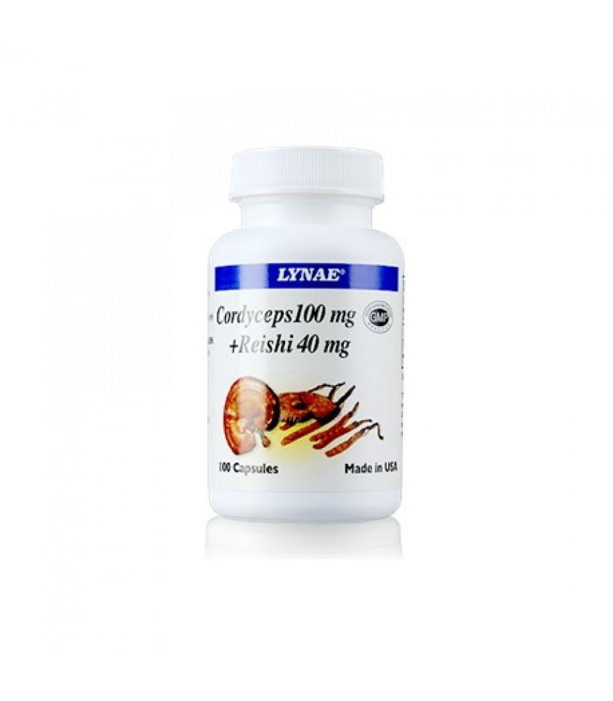 Lynae Cordeceps 100 mg.+Reishi 40mg.