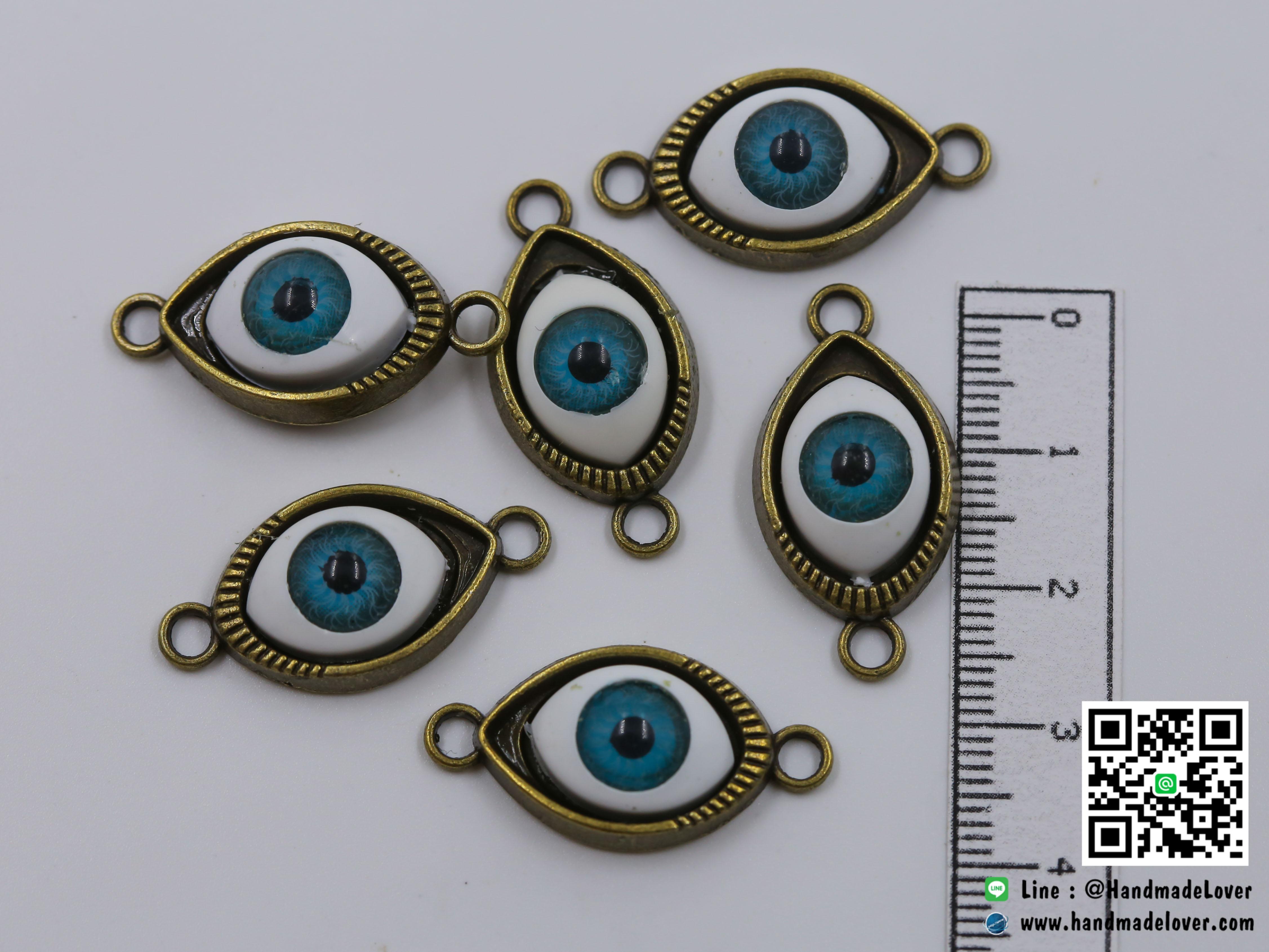 จี้โลหะ สีทองรมดำ รูปตา (evil eye) [เก่า]