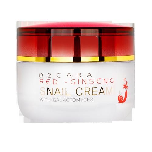 O2CARA RED GINSENG SNAIL SNAIL CREAM WITH GALACTOMYCES