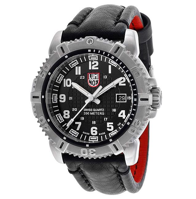 นาฬิกา Luminox Men's Modern Mariner รุ่น LUMINOX 6251 Black Leather Swiss Quartz Watch