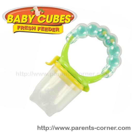 ซิลิโคนใส่อาหารหัดถือทานเอง Baby cubes - rattle