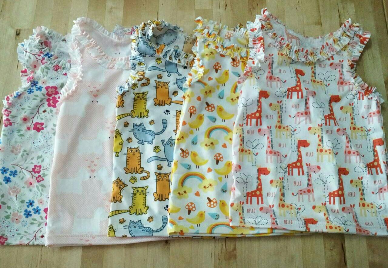 เสื้อกล้ามระบายเด็กหญิง ( แพค 5 ตัว)