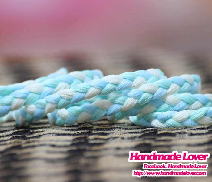 เชือกผ้าถัก ขนาด กว้าง 6 มม