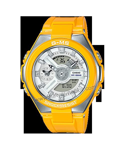 """นาฬิกา Casio Baby-G G-MS Limited """"G-Steel Lady"""" MSG-400 series รุ่น MSG-400-9A สีเหลือง (ไม่วางขายในไทย) ของแท้ รับประกัน1ปี"""