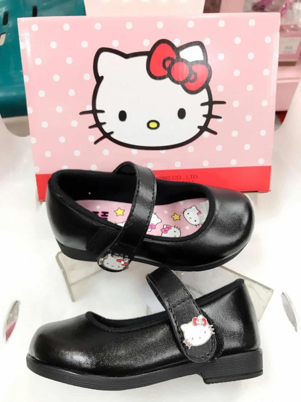 CH02รองเท้านักเรียนสีดำคิตตี้รุ่น KTZ-648 ซิปแซป(ตีนตุ๊กแก) ของแท้ 100% ป้ายครบ ใส่สวยไม่มีเอ้าท์ น้ำหนักเบาสบาย