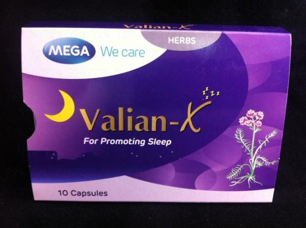 Mega We Care Valian-X (สารสกัดจากรากวาเลอเรียน) 10 แคปซูล