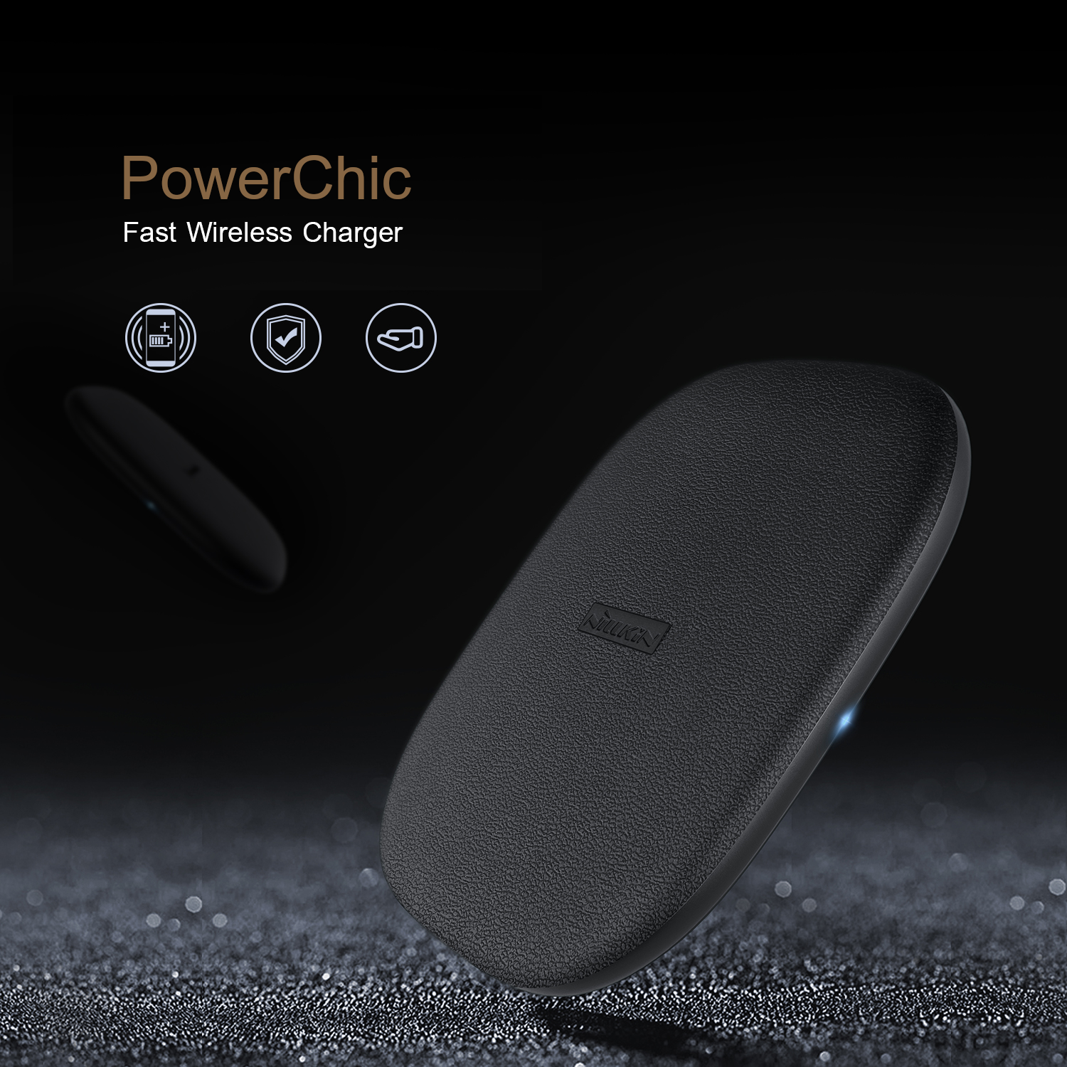 ที่ชาร์จไร้สาย NILLKIN PowerChic Fast Wireless Charger (Fast Charge Edition)