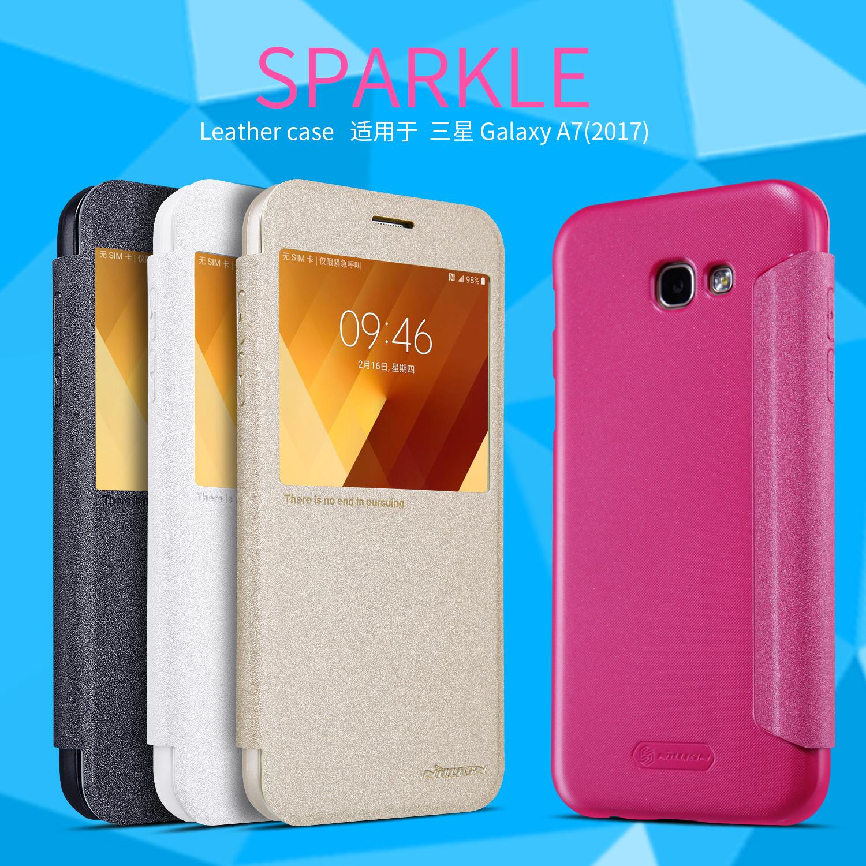 เคสฝาพับ NILLKIN Sparkle Leather Case Galaxy A7 (2017)