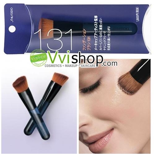 Shiseido Foundation Brush 131 แปรงรองพื้น ขนนุ่ม แน่น ไม่บาดหน้า ขนาดกำลังดี *พร้อมส่ง*