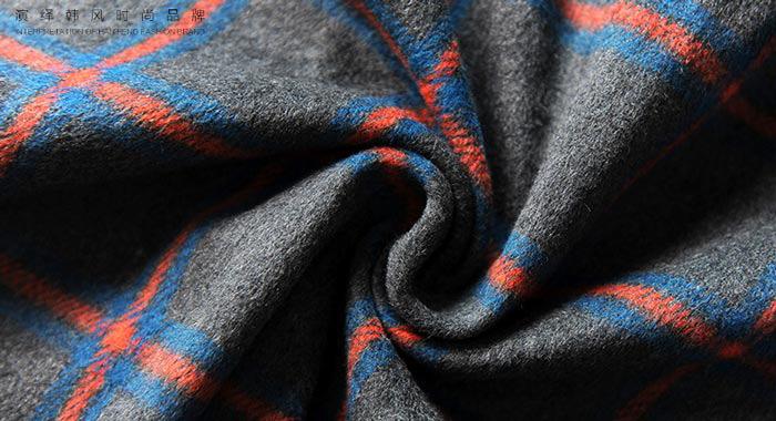 เสื้อโค้ทกันหนาวผู้หญิง สีเทา ลายสก๊อต มีฮู้ด ตัวยาวคลุมเข่า สวยๆ