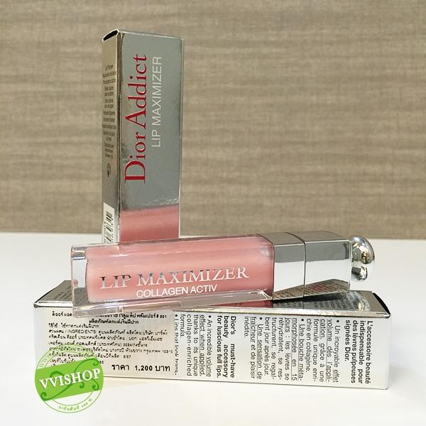 Dior Addict Lip Maximizer 6 ml # 001 Pink ลิปกลอสใส ผสมคอลลาเจน ทำให้ปากดูอิ่มเอิบ (ขนาดปกติ Inbox เคาน์เตอร์ไทย)