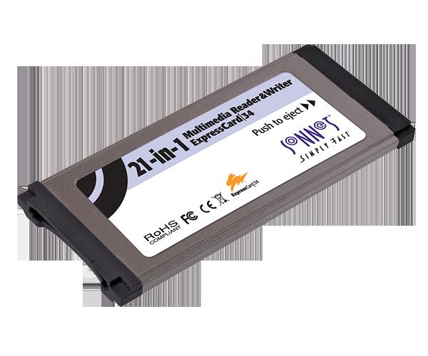 Multimedia Memory Card Reader & Writer ExpressCard/34