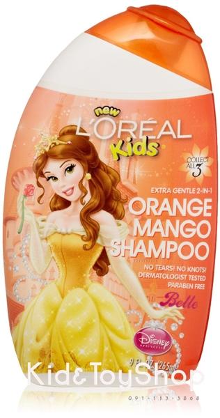 ยาสระผมผสมครีมนวดเด็ก L Oreal Kids 2-in-1 Shampoo, Extra Gentle กลิ่น orange mango