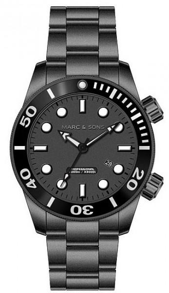นาฬิกาดำน้ำเยอรมัน MARC & SONS 1000M Professional automatic Diver
