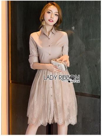 Lady Anna Sweet Lace Shirt Dress
