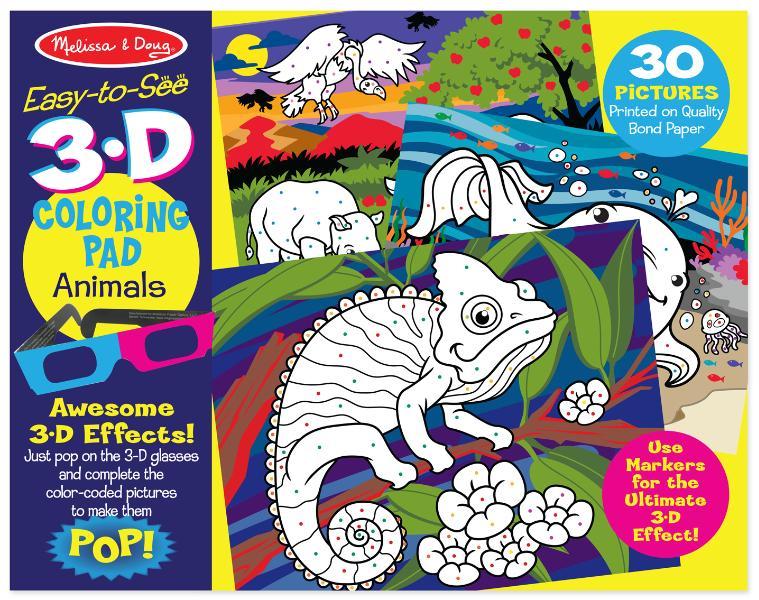 สมุดระบายสีเล่มใหญื 3D Coloring Book! - Animal