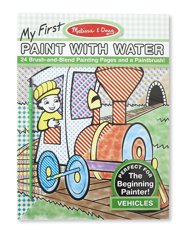 สมุดระบายสีน้ำ My First Paint With Water Vehicles