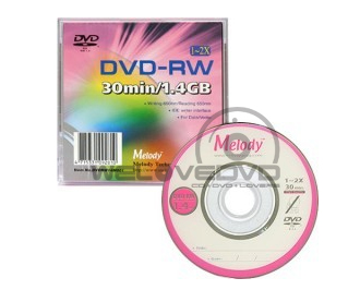 Melody Mini DVD-RW 1.4 GB (10 pcs/Slim Case)
