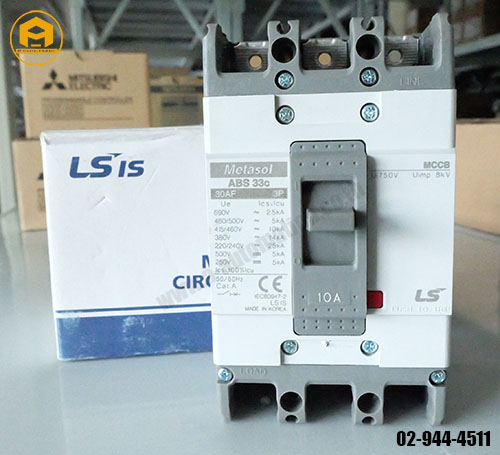 Breaker LS Model : ABS33C 3P 10A