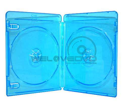 Standard Double Blu-Ray Cases with Blu-ray Logo (10 pcs)