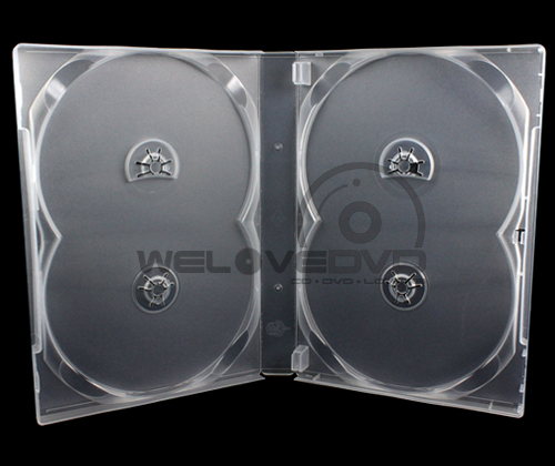 4 Discs DVD Case White (10 Boxs)
