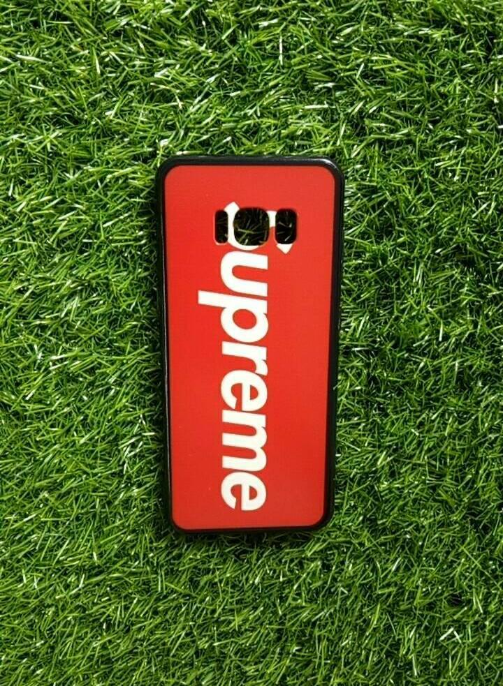 TPU ลายเส้นนูน superme สีแดง S8