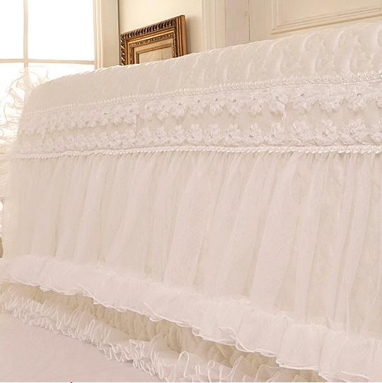 Pre-Order ผ้าคลุมหัวเตียงเจ้าหญิง สีขาว