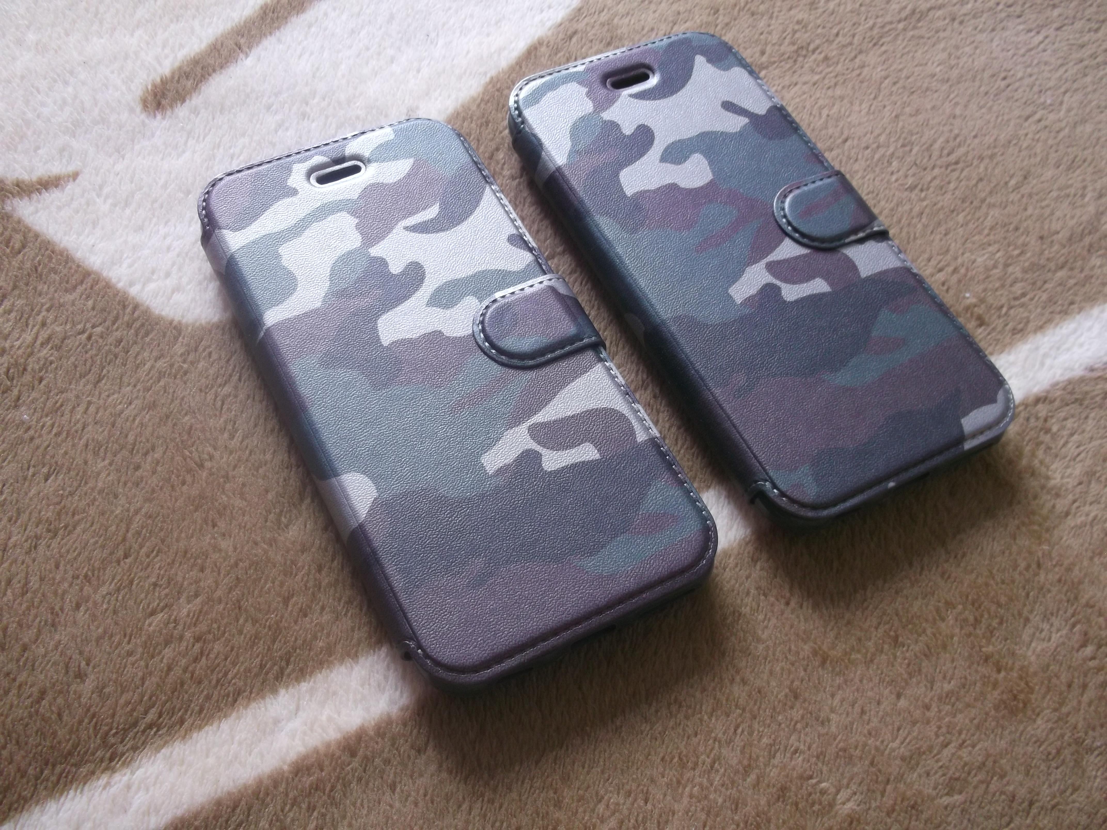 เคสเปิด-ปิด ลายพรางเขียว iphone6/6s