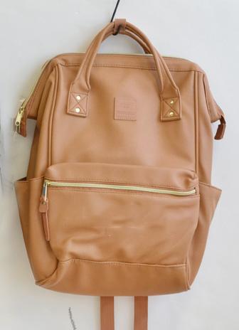 กระเป๋า Anello แบบหนัง PU ขนาดปกติ Standard สีเบจ Beige ของแท้ นำเข้าจากญี่ปุ่น พร้อมส่ง