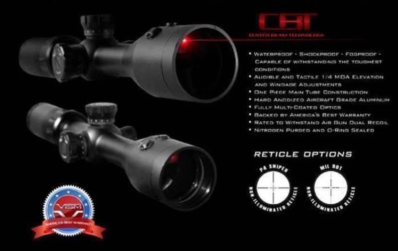 กล้อง Scope VISM 3-9x42 CBT มีเลเซอร์แดงในเลนส์