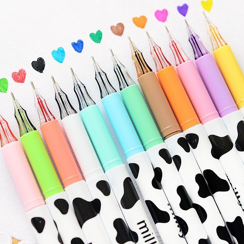 ปากกาเจลน้องวัว 12 แท่ง