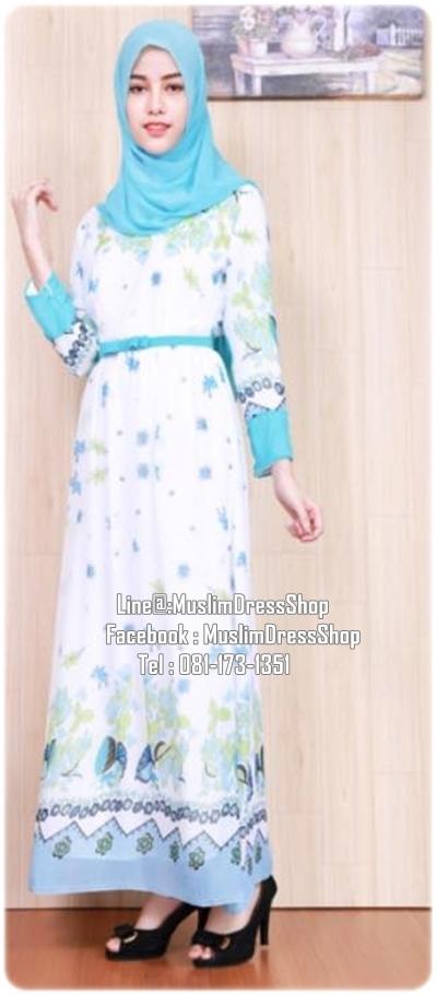 ☆ ✧ Floral Printed Chiffon Dress ✧ ☆LIGHT BLUE