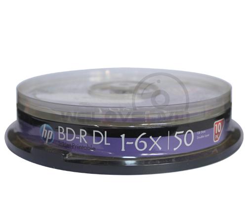 HP BD-R DL 6X 50GB Printable (10 pcs/Cake Box)