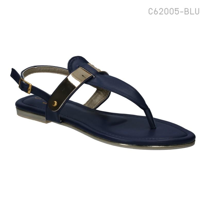 ลดล้างสต๊อก รองเท้าส้นเตี้ย C62005-BLU [สีน้ำเงิน]