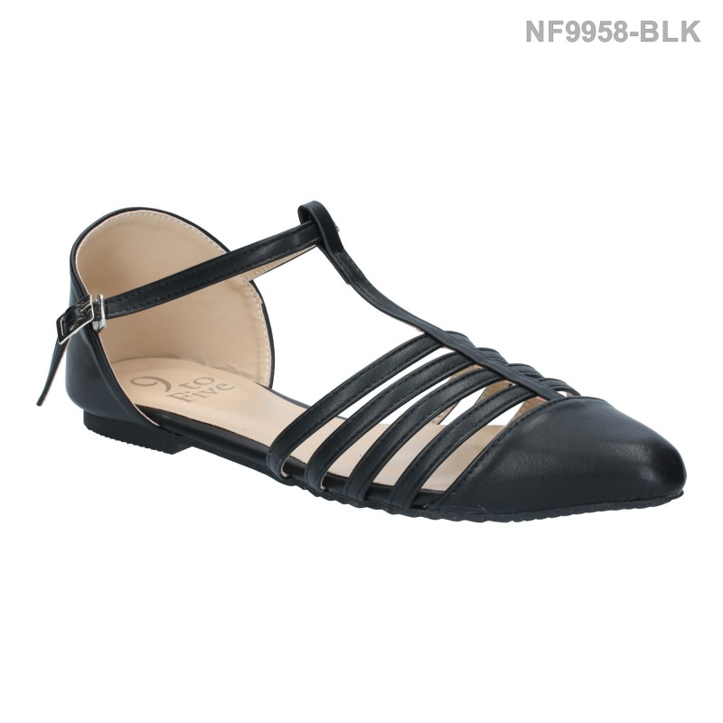ลดล้างสต๊อก รองเท้าส้นแบน NF9958-BLK [สีดำ]