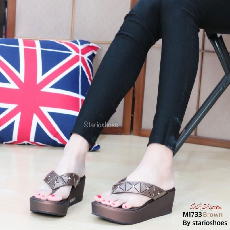 รองเท้าแตะหูหนีบสีน้ำตาล Style issey miyake (สีน้ำตาล )