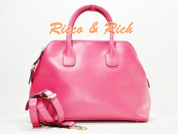 กระเป๋าหนังแท้ Padongka - Pink