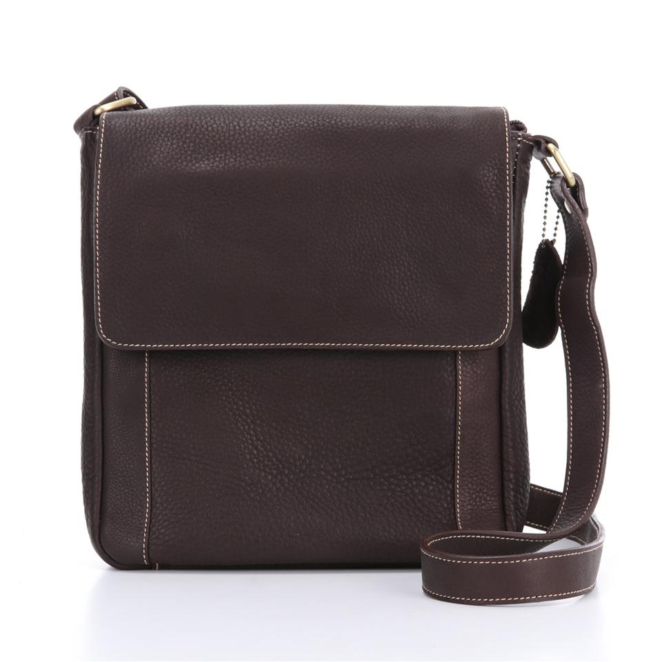 กระเป๋าสะพายรุ่น Vincent สีน้ำตาลเข้ม (No.056)