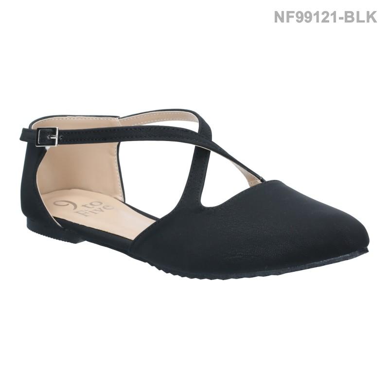 ลดล้างสต๊อก รองเท้าส้นแบน NF99121-BLK [สีดำ]