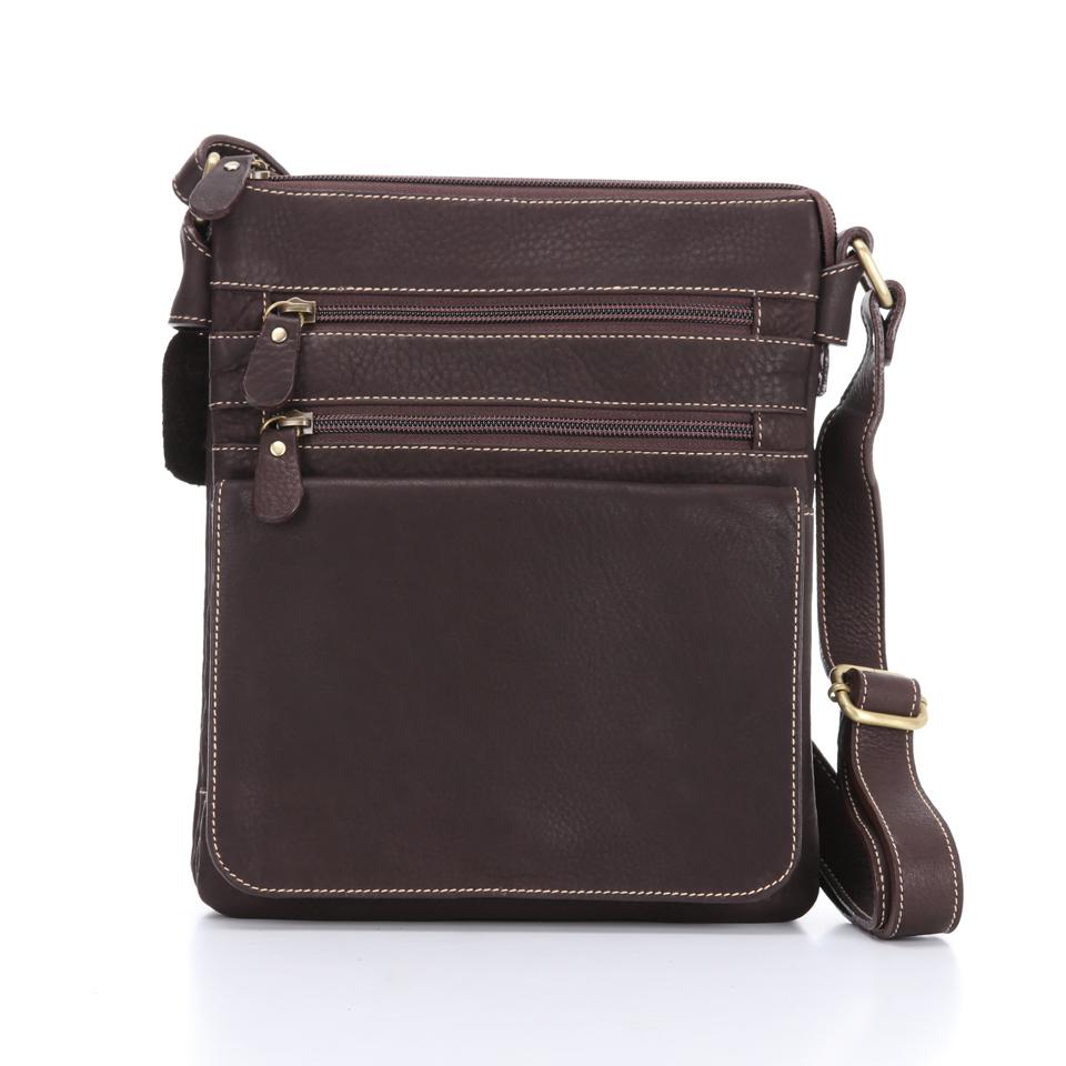 กระเป๋าสะพายรุ่น Zixma สีน้ำตาลเข้ม (No.112)