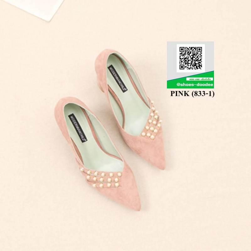 รองเท้าคัชชูหัวแหลม KHKSSTYLE-833-1-DEEPPINK [สีชมพู]
