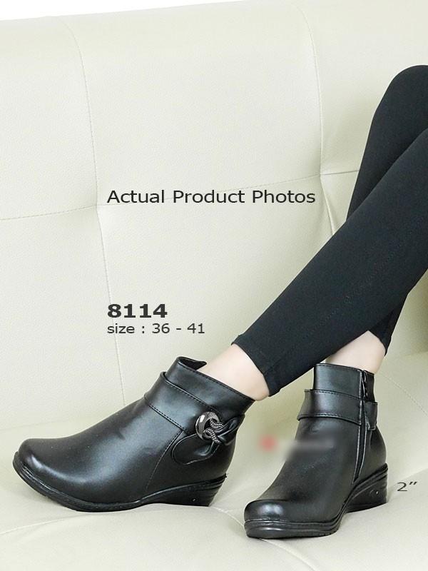 รองเท้าบูทผู้หญิง ใส่เที่ยวหน้าหนาว (สีดำ )