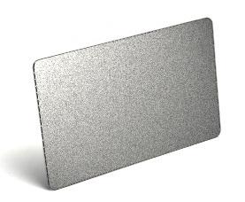 100 ใบ บัตรพลาสติกพิ้นประกายเงิน พิมพ์เพิ่มเติมได้ บัตรเปล่า บัตรพีวีซีพื้นเมทัลลิค ใช้กับเครื่องพิมพ์บัตร ระบบริบบอน dye sub ทั่วไป